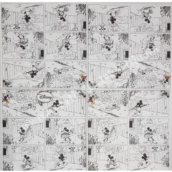 Szalvéta, Disney-mintás, képregény Mickey egérrel, 33x33 cm (39)