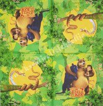 Szalvéta, Disney-mintás, Dzsungel könyve, 32x32 cm, 1 darab