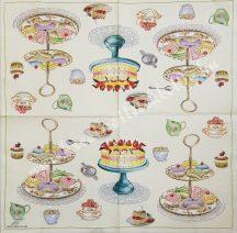 Szalvéta, édesség, teasütemény, 32x32 cm, 1 darab