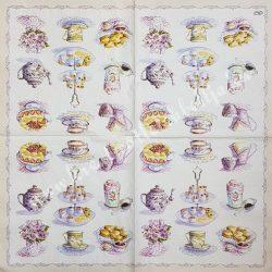 Szalvéta, édesség, teasütemény, 33x33 cm (11)