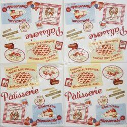 Szalvéta, édesség, torta reklám, 32x32 cm, 1 darab