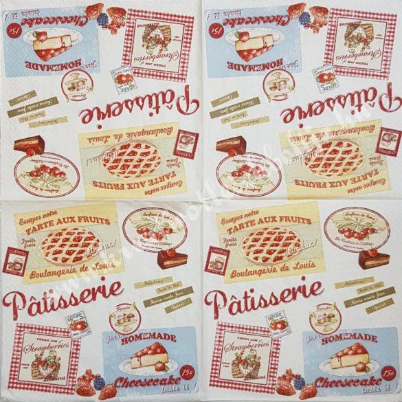 Szalvéta, édesség, torta reklám, 33x33 cm (15)