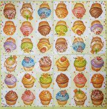 Szalvéta, édesség, csokoládés sütik, 32x32 cm, 1 darab