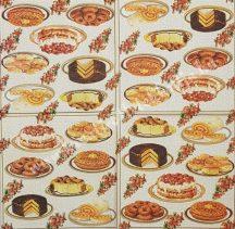 Szalvéta, édesség, torták, 25x25 cm, 1 darab