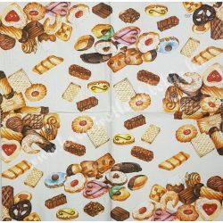 Szalvéta, édesség, aprósütemény, 33x33 cm (21)