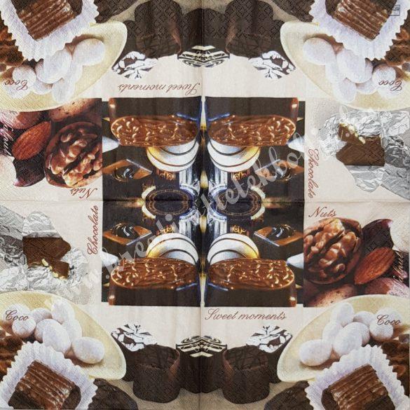 Szalvéta, édesség, bonbon, 33x33 cm (22)