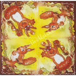 Szalvéta, erdei állatok, mókus, 32x32 cm (12)