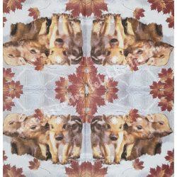 Szalvéta, erdei állatok, 33x33 cm, 1 darab