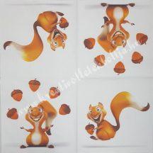 Szalvéta, erdei állatok, mókus, 32x32 cm, 1 darab