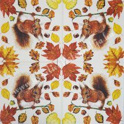 Szalvéta, erdei állatok, 33x33 cm (21)