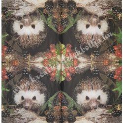 Szalvéta, erdei állatok, 33x33 cm (22)