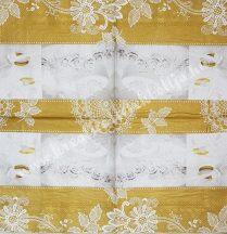 Szalvéta, esküvő, 32x32 cm, 1 darab