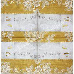 Szalvéta, esküvő, 33x33 cm (11)