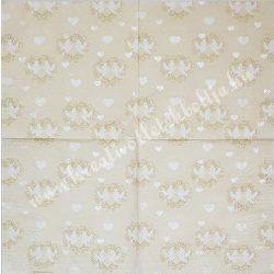 Szalvéta, esküvő 17., galambok, 33x33 cm