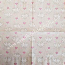 Szalvéta, esküvő, galambok, 33x33 cm (18)