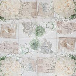 Szalvéta, esküvő 2., 33x33 cm