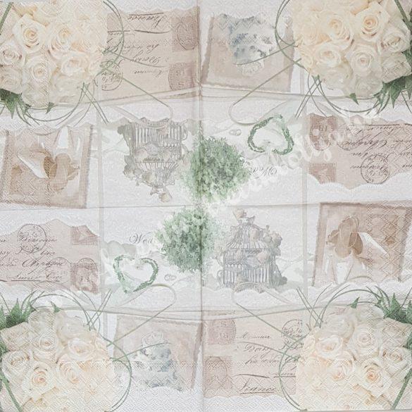 Szalvéta, esküvő, 33x33 cm (2)