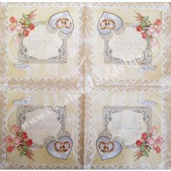 Szalvéta, esküvő 26., wedding, 33x33 cm