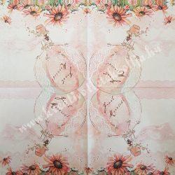 Szalvéta, esküvő 32., 33x33 cm