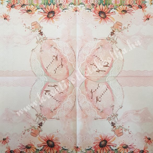 Szalvéta, esküvő, 33x33 cm (32)