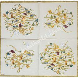 Szalvéta, esküvő 4., bőség, 25x25 cm