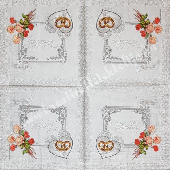Szalvéta, esküvő, 33x33 cm (5)