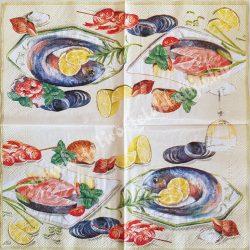 Szalvéta, ételek, tengeri herkentyű, 25x25 cm (10)