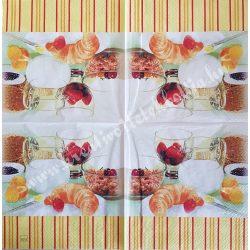 Szalvéta, ételek, pékáru, 32x32 cm, 1 darab