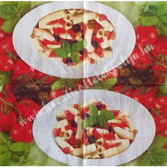 Szalvéta, ételek, tészta, 33x33 cm (2)