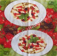 Szalvéta, ételek, tészta, 25x25 cm, 1 darab
