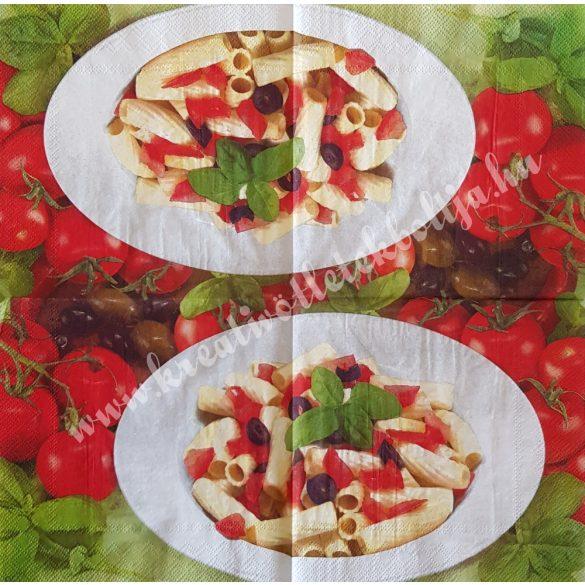 Szalvéta, ételek, tészta, 25x25 cm (4)