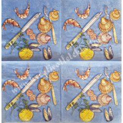 Szalvéta, ételek, tengeri herkentyű, 33x33 cm (8)
