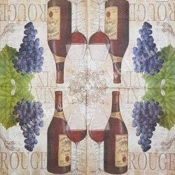 Szalvéta, férfiaknak, bor, 33x33 cm (11)