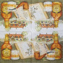 Szalvéta, férfiaknak, whiskey, 32x32 cm, 1 darab