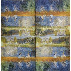 Szalvéta, festmény, 33x33cm (10)