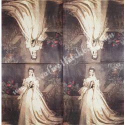Szalvéta, festmény, 32x32 cm, 1 darab