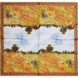 Szalvéta, festmény, 33x33 cm (4)