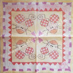 Szalvéta, gyerekmintás, egér, 33x33 cm (10)