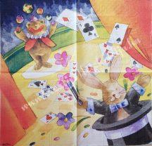 Szalvéta, gyerekmintás, varázslat, 32x32 cm, 1 darab
