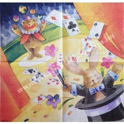 Szalvéta, gyerekmintás, varázslat, 33x33 cm (11)