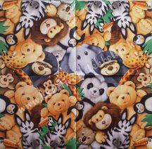 Szalvéta, gyerekmintás, állatkert, 32x32 cm, 1 darab