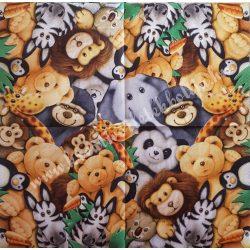 Szalvéta, gyerekmintás 26., állatkert, 33x33 cm