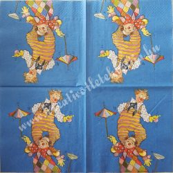 Szalvéta, gyerekmintás 3., cirkusz, 33x33 cm