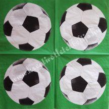 Szalvéta, gyerekmintás, foci, 32x32 cm, 1 darab