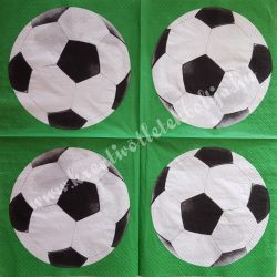 Szalvéta, gyerekmintás 39., foci, 33x33 cm