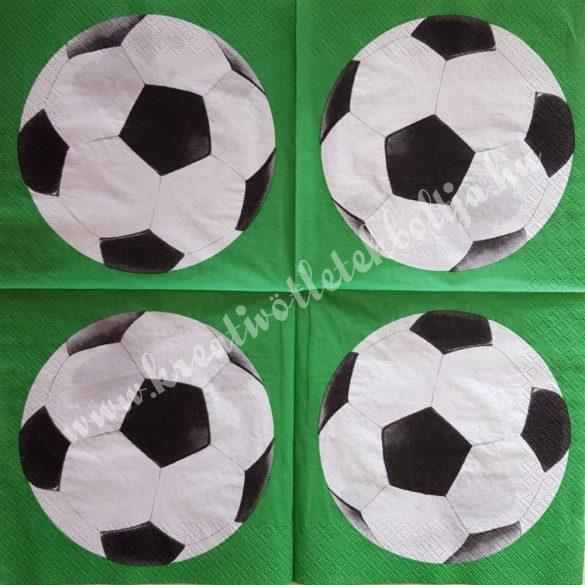 Szalvéta, gyerekmintás, foci, 33x33 cm (39)