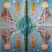 Szalvéta, gyerekmintás, cirkusz, 32x32 cm, 1 darab