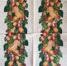 Szalvéta, gyümölcsök, barack, 32x32 cm, 1 darab