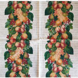 Szalvéta, gyümölcs, barack, 32x32 cm, 1 darab