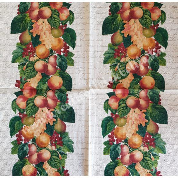 Szalvéta, gyümölcs, barack, 33x33 cm (18)